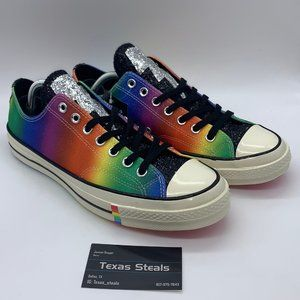 NEW Converse Chuck 70 Low Pride Shimmering Rainbow